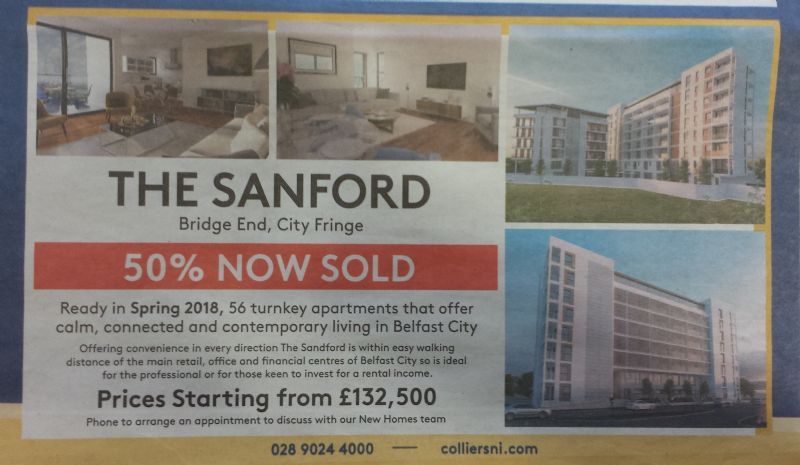 THE SANDFORD | BELFAST CITY CENTRE | 50% SOLD