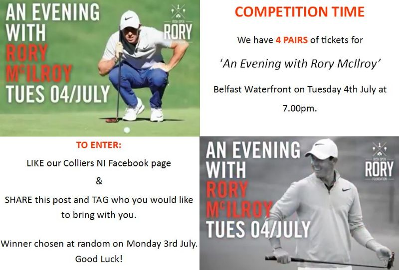 COMPETITION TIME - 'AN EVENING WITH RORY'